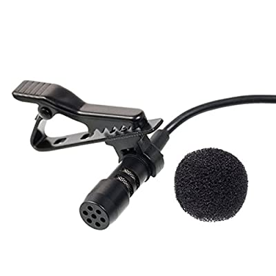 Generic E_57000455 Imported 3.5mm Clip on Mini Lapel Lavalier Microphone for ...-57000455MG