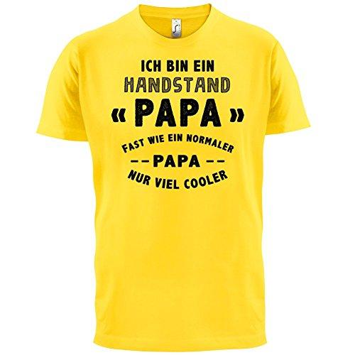 Ich bin ein Handstand Papa - Herren T-Shirt - 13 Farben Gelb