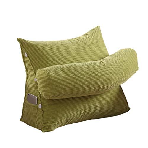 J-Kissen Bett Rückenstützkissen Keilkissen Dreieckskissen Rückenlehne Kissen Sofa Bürostuhl Rest Kissen Wurfkissen (Farbe : Green, größe : 45x22x40cm)