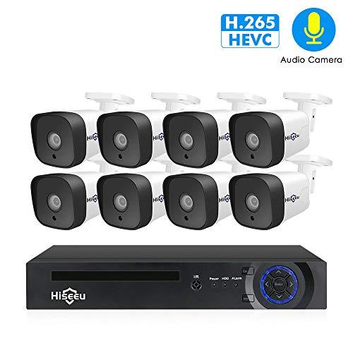 WANGOFUN 1080P Überwachungskamera System 8PCS 2MP Indoor/Outdoor wasserdichte Kameras mit Nachtsicht Easy Remote Access Motion Alert Motion Alert Kit