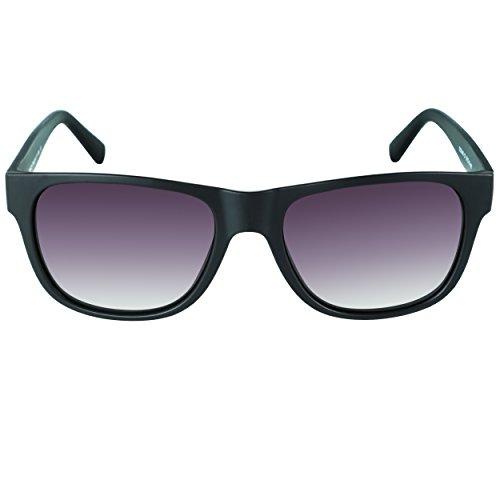 DUCO Klassische Square Polarisierte Acetat Sonnenbrille für Herren und Damen UV400 2145 (Matt Schwarz/Grau Verlaufsglas)