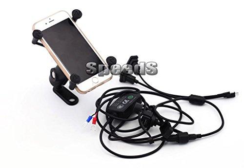 Moto Téléphone Portable/GPS Support GoPro Support avec port USB pour Yamaha xv950 xv1700 XVS650 V Star xv950