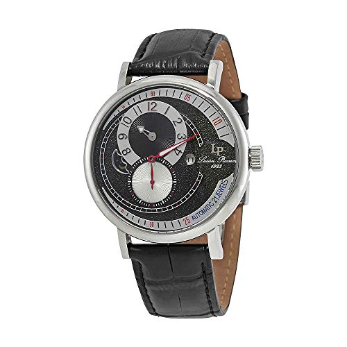Lucien Piccard Supernova Black and Silver Dial Automatic Mens Watch 15157-01-W