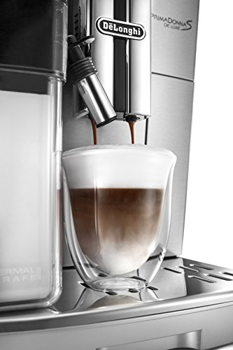 41UTTf1HqRL - De'Longhi Primadonna S Evo, Fully Automatic Bean to Cup Coffee Machine, Espresso and Cappuccino Maker,Stainless Steel…