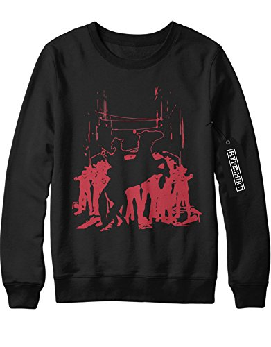 Lucille Kostüm 2 (Sweatshirt The Walking Dead Rick on Horse Zombies C980142 Schwarz)