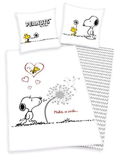 Peanuts biancheria da letto con Snoopy e Woodstock 80X 80135x 200cm 100% cotone rinforzato con chiusura lampo, nuovo von Herding