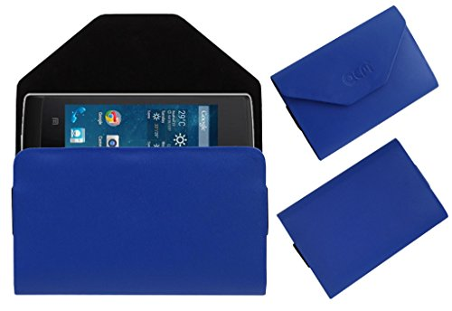 Acm Premium Pouch Case For Panasonic T9 Flip Flap Cover Holder Blue  available at amazon for Rs.179