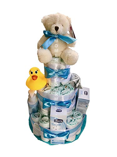 Tarta de pañales DODOT set baño productos CHICCO Talla 3 4-9 kg