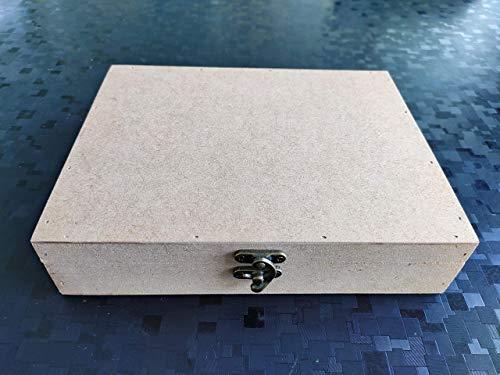 Kreatish Rectangular MDF Multipurpose Box (9 x 7 x 2-inch, Brown)