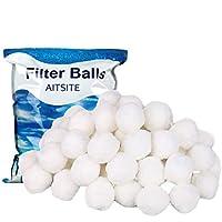 Aitsite Depuradora Piscina 700G Bola de filtro de fibra para filtro de piscina 25 kg de arena de cuarzo productos de sustitución de arena de filtro