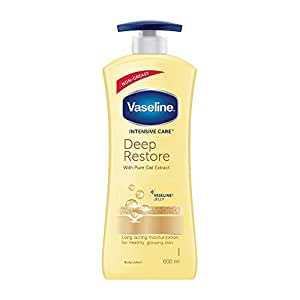 Vaseline Non Greasy, Long Lasting Moisturisation Intensive Care Deep Moisture Body Lotion For Healthy, Glowing Skin for Dry skin- 600 ml