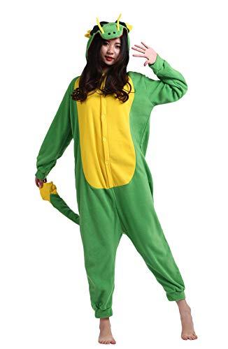 50c864b32 DELEY Unisex Adult Pajamas Onesie Animal Anime Cosplay Costume Loungewear  Hoodie Sleepwear Halloween Carnival Party Dragon