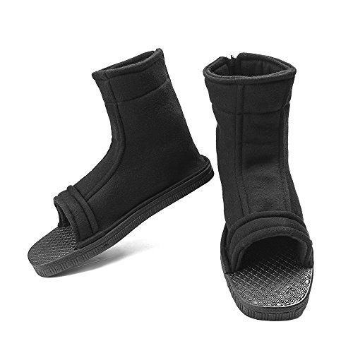 Naruto Uchiha Sasuke Haruno Sakura Ninja Cosplay Schwarz Schuhe Sandalen Stiefel Kakashi Schuhe Cosplay Kostüm Zubehör, (Ninja Kleidung)