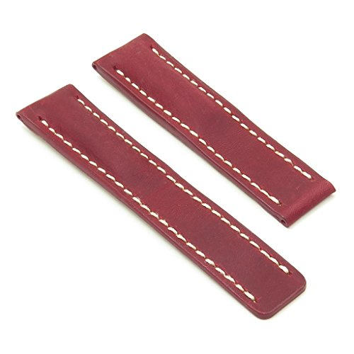 dassari Venture rot Distressed Italienisches Leder Armbanduhr Band für Breitling 24/2224mm