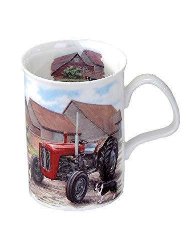 Toller Becher ~ Traktor rot ~ Roy Kirkham Kaffeebecher Kaffeetasse Kaffee Tasse - Traktor-becher