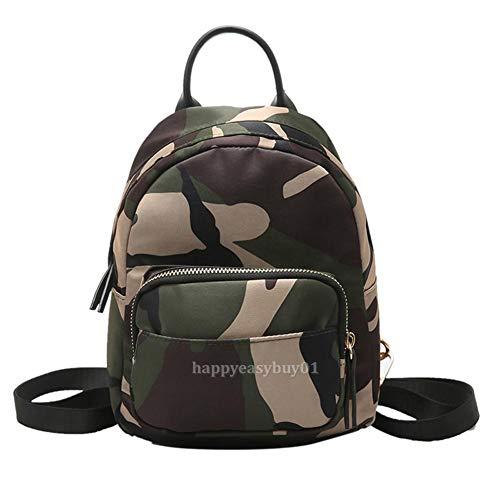 Nylon Freizeit Rucksäcke Damen, OURBAG Frauen klein Mode Mini Casual Wasserdichte Daypacks Büchertasche für Reise Einkaufen Camouflage