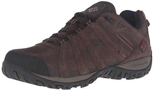 Columbia Redmond Leather Omni-tech Herren Trekking- & Wanderhalbschuhe, Schwarz (Cordovan/Garnet Red 231), 43 EU, BM1737