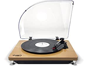 ION AUDIO iT51WD Pure LP Plattenspieler (USB) Wood braun
