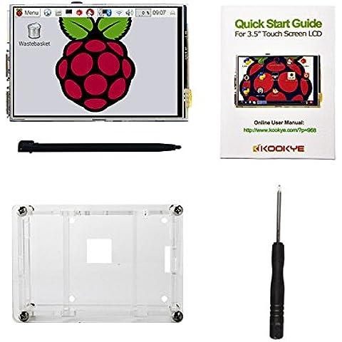 KOOKYE Pantalla táctilde 3.5 pulgadas TFT para Raspberry Pi Monitor tactil + Carcasa + lápiz táctil + destornillador
