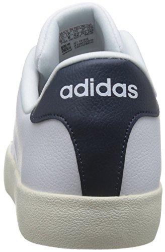adidas Vlcourt Vulc, Scarpe da Ginnastica Uomo Bianco (Ftwbla/Ftwbla/Maruni)