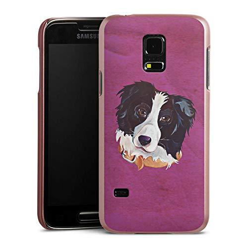 DeinDesign Hülle kompatibel mit Samsung Galaxy S5 Mini Handyhülle Case Border Collie Dog Hund