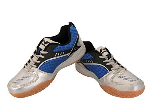 Nivia 155BL11 Appeal Mesh Badminton Shoes, Size 11 (Blue)