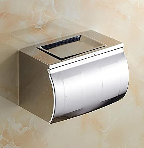 ToowelBar Creative European Style Toilet Paper Box Tissue Stainless Steel Waterproof Towel Rack Toilet Paper Holder Free Shipping,White