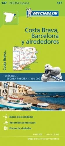 Michelin ZOOM MAP: Costa Brava, Barcelona y alrededores (Mapas Zoom Michelin)