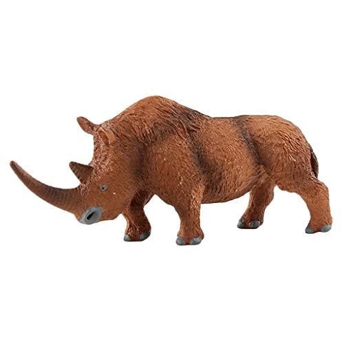 Toygogo Nashorn Tierwelt Spielzeug Modell Figur Dekor Sammler Kind Spielzeug -