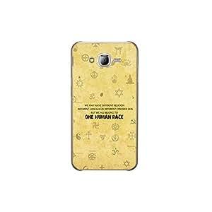 ezyPRNT Back Skin Sticker for Samsung Galaxy J7 Secularism Typography