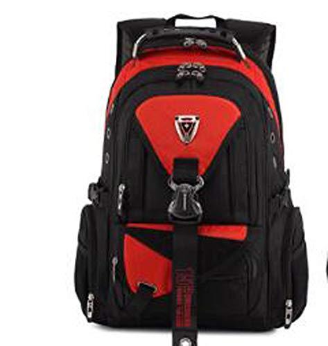 GAOQIAN Rucksack mit großer Kapazität Laptop College Rucksack für Männer und Frauen Mode lässig Wandern Travel Daypack Oxford Tuch,vibrantorange