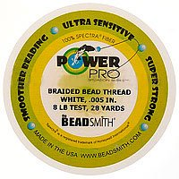 Power Pro Braided Beading Thread .005 Inch White - 28