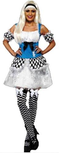 Alice in Wonderland Kostüm, L, Mehrfarbig (Alice In Wonderland Königin Kostüme)