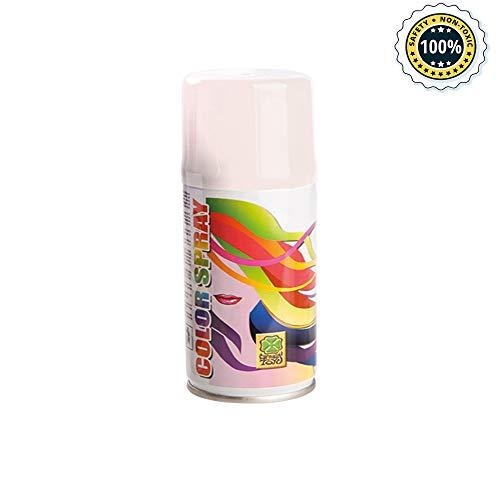 Palucart 1 bomboletta spray colore capelli temporaneo bianco colora i tuoi capelli per feste party bambini e ragazzi lacca colorata bianca