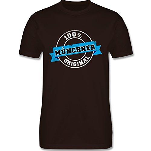 Städte - Münchner Original - Herren Premium T-Shirt Braun