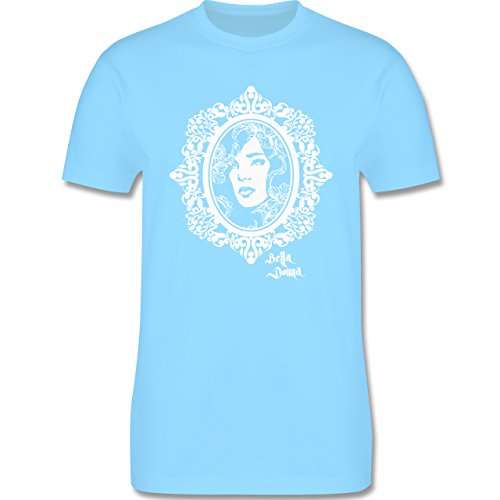 Vintage - Bella Donna - Herren Premium T-Shirt Hellblau