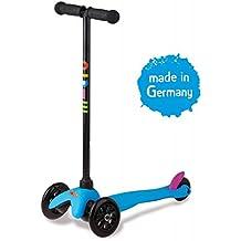 micro Mini Micro Sporty - Patinete para niños, color azul neón