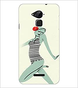 PrintDhaba Crazy Girl D-2884 Back Case Cover for COOLPAD NOTE 3 LITE (Multi-Coloured)