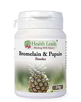 Health Leads ...Working With Nature Bromelain and Papain Powder 30g @ 1:10 (100% Additive Free)