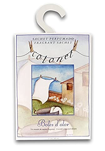 Large Scented Sachet Cotonet with Hanger, Fragrance Fresh Clean