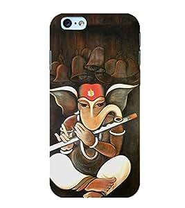 FUSON Lord Ganesha Playing Basuri 3D Hard Polycarbonate Designer Back Case Cover for Apple iPhone 6