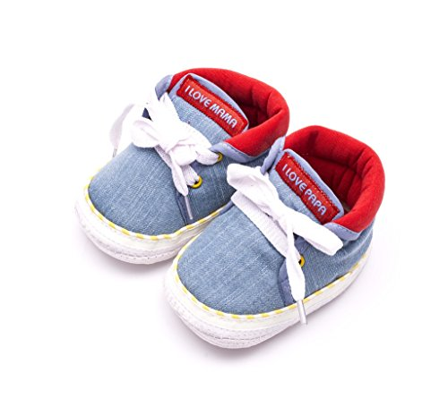 Infano Laces Style Love Print Sky Blue Color Baby Shoes...