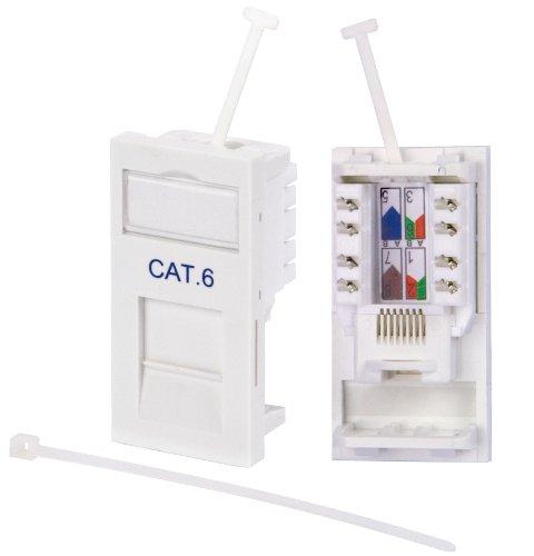 Philex 70695R - Modulo di uscita CAT. 6 RJ45, colore: Bianco - Modulo Cat