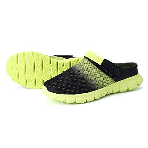Kootk Adulte Chaussons Hommes Femmes Mules Sabots Chaussures Plage slipers Accueil Décontractée Mode Pente Chaussures Respirant Doux Antidérapant Travail Gargen Sabots 36-46 Vert