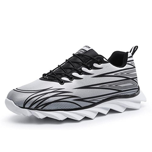 Men's Breathable Zapatos Hombre Athletic Running Shoes Grey