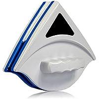 HerZii Nettoyeur pour Fenêtre en Verre Double Face Magnétique Brosse de Verre Nettoyage de Vitre pour Aquarium Porte-fenêtre (Bleu)