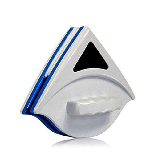 HerZii magnético ventana limpiador de doble cara de cristal limpiaparabrisas Limpiador superficie útil cepillo azul
