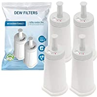 4 Pack Replacement Water Filter Cartridge | Compatible Breville Sage Claro Swiss Oracle Barista Bambino Espresso Coffee Machine - Part #BES008WHT0NUC1 | BES 990/980/500/878/875/880/920/810 | BPA Free