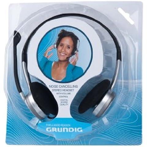 Cuffie stereo per computer Grundig con microfono e funzione cancellazione