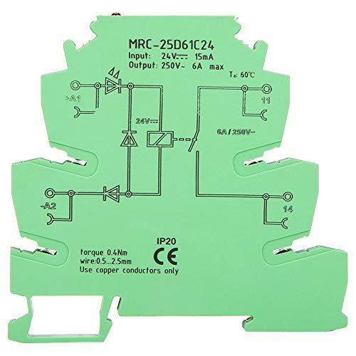 PLC-Schnittstellenrelais, MRC-25D61C24 PLC-Relais für elektromagnetische Kontakte, 6A, normalerweise offenes Schnittstellenrelais (Offen Normalerweise Relais)